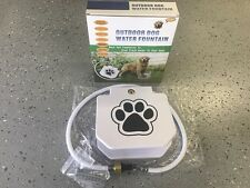 Outdoor Dog Pet Drinking Water Fountain With Extra Load Spring for Smaller Dogs