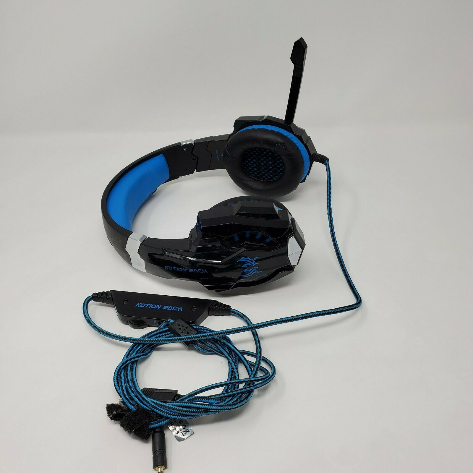 Pro Gaming Headset Headphones Microphone Kotion Each Tested Working Black Blue