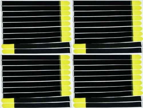 40 x Klettband Kabelbinder 80 cm x 50 mm gelb Klettbänder Kabelklett Metallöse
