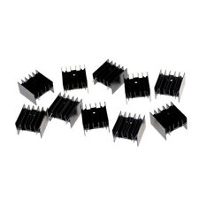 New Listing10pcs 252316mm To220 Transistor Aluminum Radiator Heat Sink With 2p O