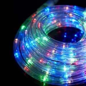 Led 3 wire multi colour rope light round tube light outdoorindoor image is loading led 3 wire multi colour rope light round aloadofball Images