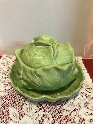 Vintage Holland Mold Ceramic Cabbage Soup Tureen With Under Plate Ebay