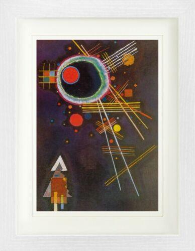 Strahlenlinien Poster Plakat Gerahmt Wassily Kandinsky #121920 40x30cm