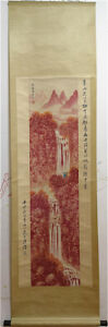 Excellent-Chinese-100-Hand-Painting-amp-Scroll-Landscape-By-Fu-Baoshi-AL920E
