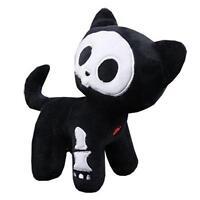 Skelanimals Official Med 6 Deluxe Classic Walking Kit Cat Plush Toy Fuzzy Bones