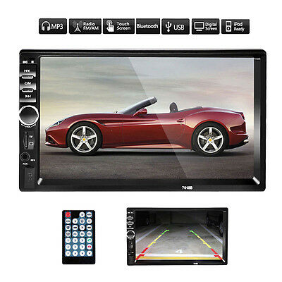 7/'/' LCD 2 DIN In-Dash Bluetooth Car Stereo FM Radio MP3 Player Touch Screen AUX