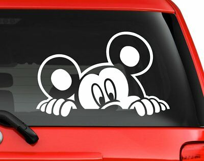 "car truck laptop decal sticker6/"" White Minnie mouse face white Disney character"