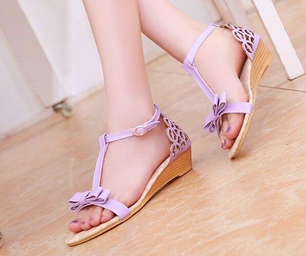 Women's sandals with low heel 3 cm purplec cod. 8087