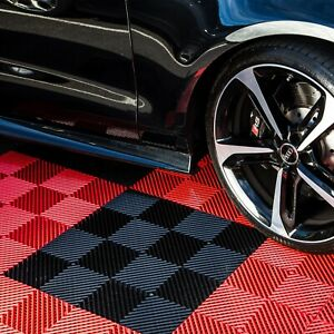 "FlooringInc Nitro Vented Garage Floor Tiles 12""x12"" - Winter Snow Water Drainage"