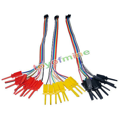 10PCS in 1 Useful High Efficiency Test Hook Clip Ideal for Logic Analyser Kit