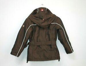 Wellensteyn-Giacca-Bambini-Cappotto-Ragazze-Con-Cintura-Zermatt-pelliccia-marrone-taglia-128-8-10