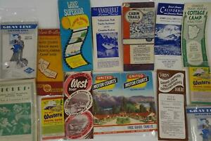 Lot-10-Vintage-United-States-Travel-Brochures-Maps-Guided-Tours
