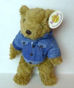 Hard-Rock-Cafe-Dallas-Texas-Teddy-Bear-with-Denim-Jacket