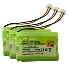 3xColdless Home Battery AAA*3 600mAh 3.6V NiMH Battery for DECT30 Molex-51021-3P