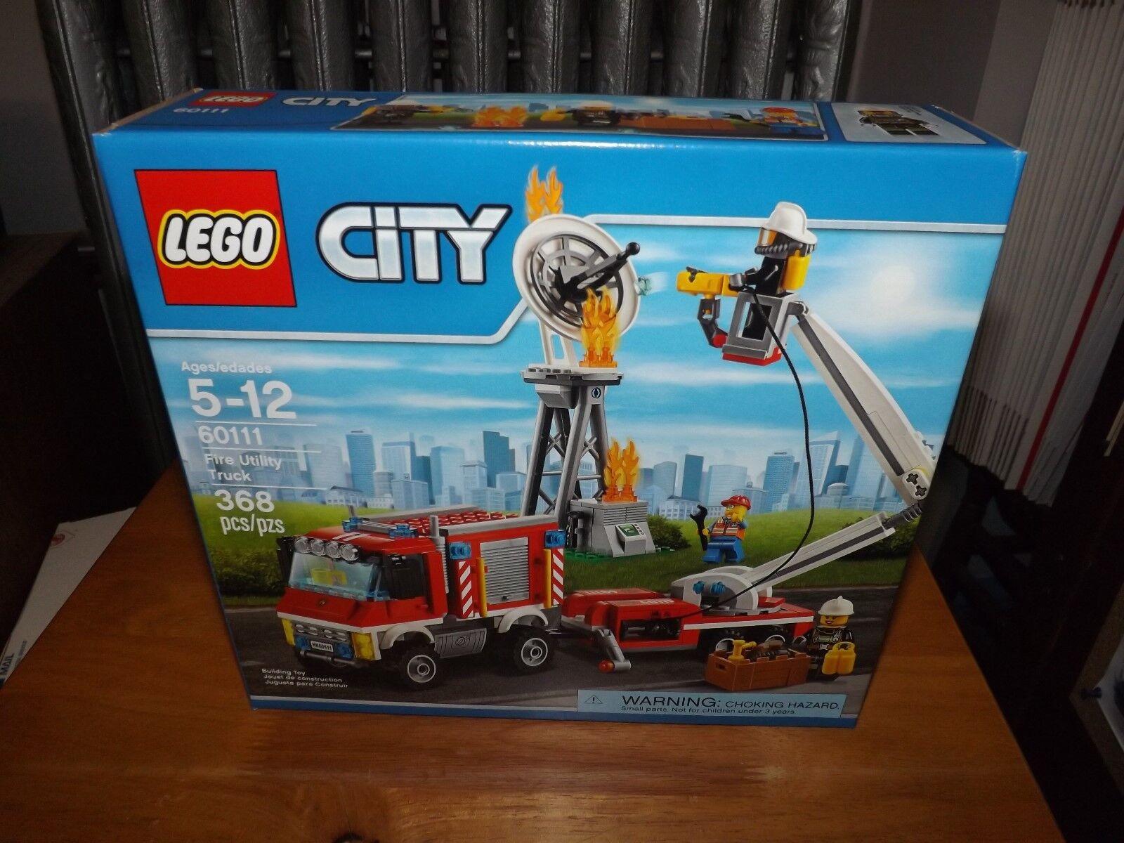 Lego Ciudad Camión de Bomberos, utilidad, Kit  60111, 368 Piezas, Nuevo En Caja, 2016