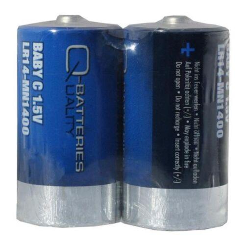24x Q-Batteries Baby C Batterie LR14 1,5V Alkaline Zellen 12x 2er Folie