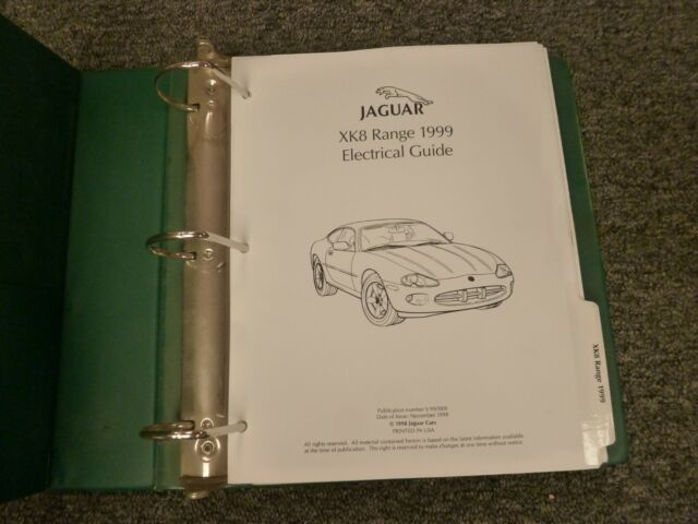 1999 Jaguar Xk8 Coupe Convertible Electrical Wiring Diagram Manual 4 0l V8