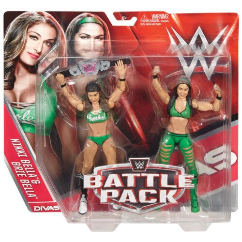 WWE BRIE /& NIKKI BELLA TWINS BATTLE PACK SERIES 38 FIGURES TOTAL DIVAS BELT