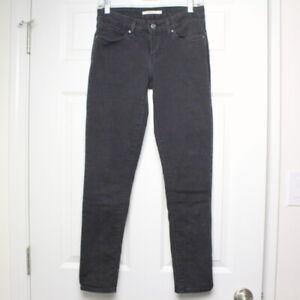 830d153ad37 Details about Women s Levi s 711 Skinny Jeans Size 28 x 28 Black Denim Slim  Mid Rise Stretch