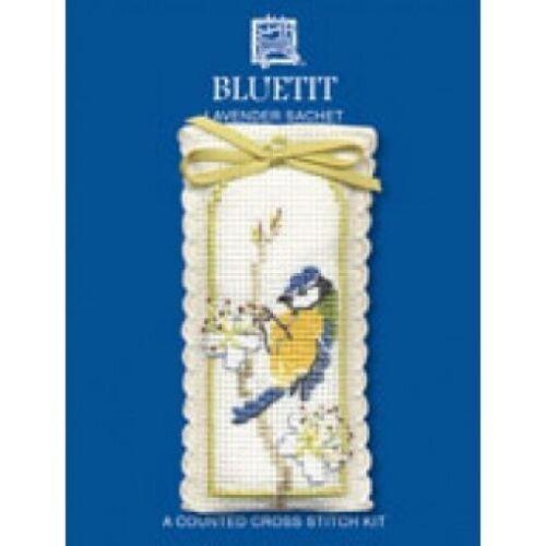 Bluetit Lavender Sachet Cross Stitch Kit By Textile Heritage