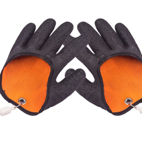 Anti-slip Professional Fishing Glove With Magnet Hooks Puncture Resistant Gloves