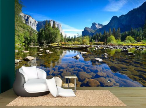 Iceland Yosemite landscape Mountains Wall Mural Photo Wallpaper GIANT WALL DECOR