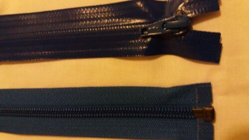 Royal Blue Aquaguard open end zips by YKK 76 cm long Water proof zips