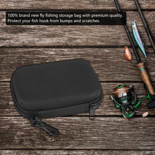 Portabale Fly Fishing Hook Storage Bag Bait Lure Box Fishing Tool Tackle Case HE