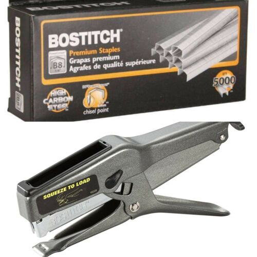 "Lot of 25 Boxes Bostitch B8 Staples 1//4/"" 5,000//Box 1 Bostitch 02245 B8 Stapler"