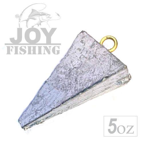 Lead Triangle 5 oz Fishing Sinker Weight