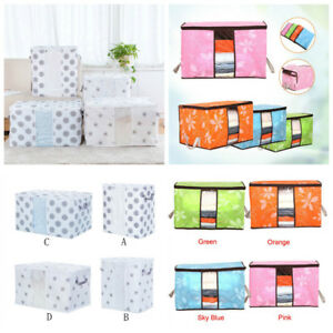 Foldable-Storage-Bag-Clothes-Blanket-Quilt-Closet-Sweater-Organizer-Fashion-Box