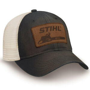 Officially-Licensed-Stihl-Washed-Black-Twill-and-Mesh-Cap