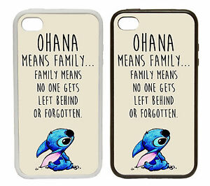 Ohana Means Family Rubber And Plastic Phone Cover Case Lilo Stitch