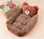 thumbnail 10 - Cartoon-Animal-Frog-Bear-Pet-Cat-Small-Dog-Soft-Bed-House-S-XS-Brown-D01