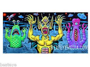 XNO-Original-Art-Com-ic-Art-Comix-monster-horror-ALIEN-OUTER-SPACE-FINE-ART-ART