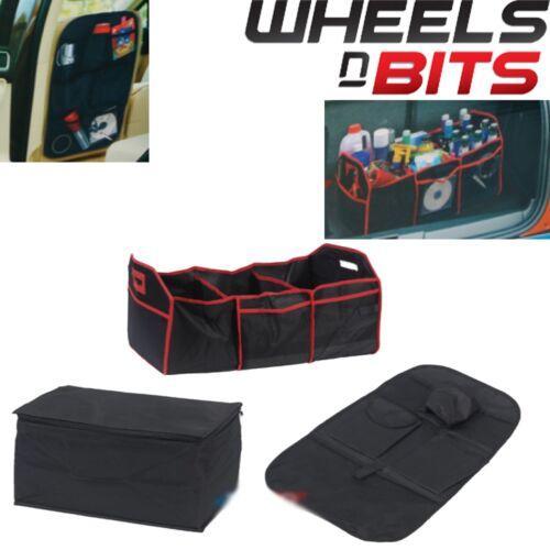 3PK Heavy Duty Plegable Coche Organizador de arranque y asiento bolso más fresco de compras ordenado