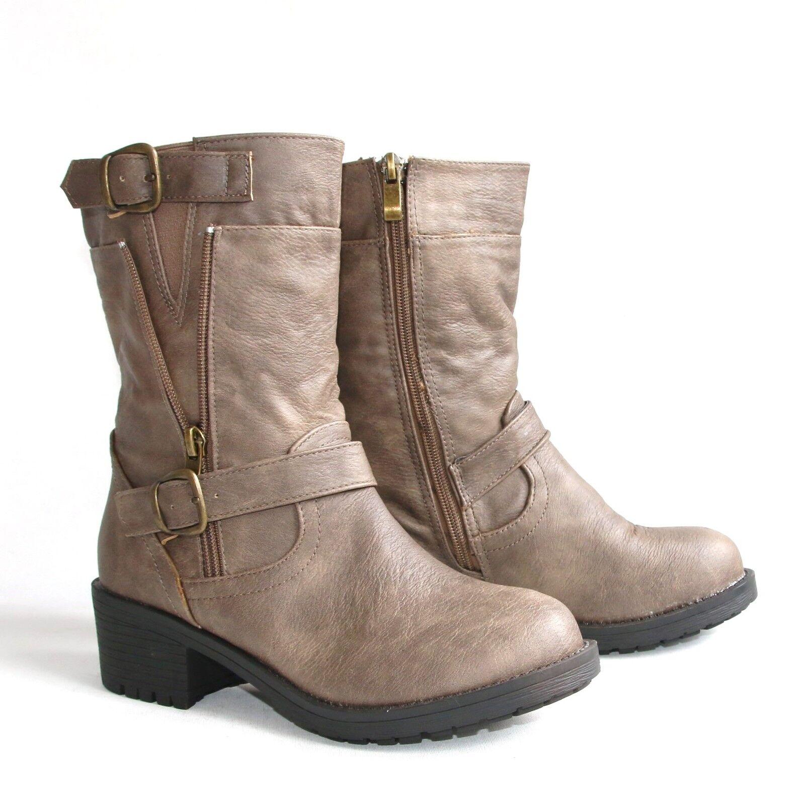 Bequeme Damen Boots Beige 37 Stiefel Stiefeletten Pumps Halbschuhe W19