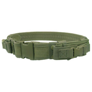 CONDOR-MILITARY-TACTICAL-BELT-WITH-PISTOL-MAG-POUCHES-AIRSOFT-WEBBING-OLIVE-DRAB