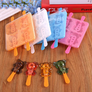 Kitchen-Popsicle-Maker-Lolly-Mould-Tray-Strawberry-Animal-Letter-Ice-Cream-Mould