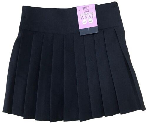 GIRLS SCHOOL SKIRTS ALL AROUND PERMANENT PLEAT BLACK EX UK STORE UNIFORM 3-4Y