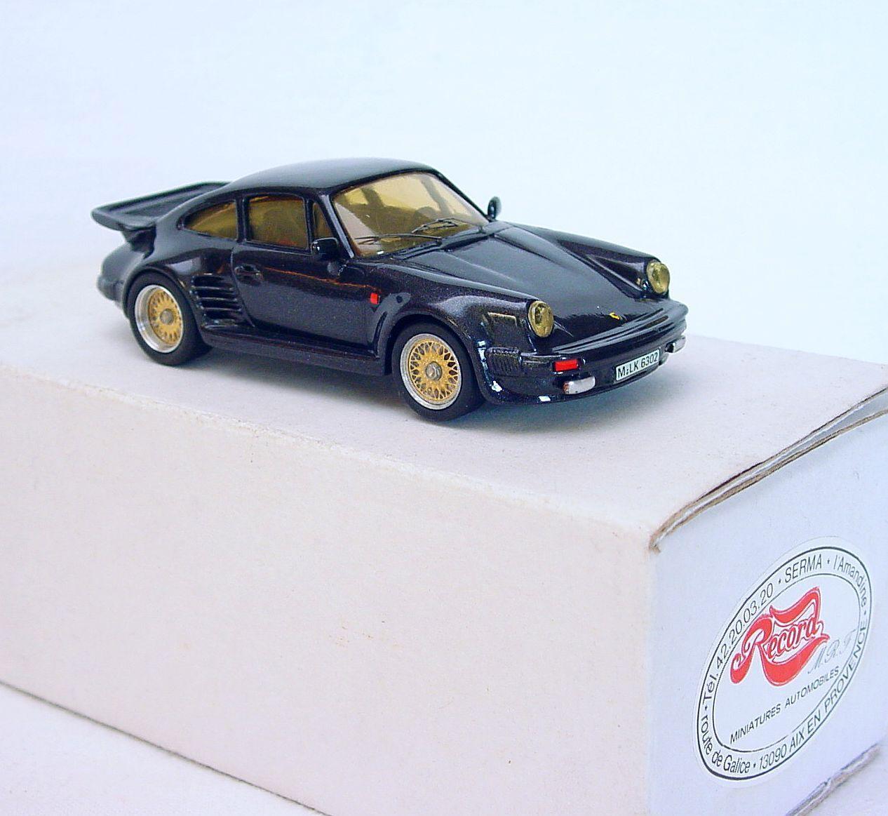 RECORD MODELS 1 43 PORSCHE 930 Turbo  SALON DE GENEVE  RESIN KIT VOITURE MAIN construit Comme neuf IN BOX