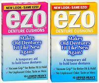 Ezo Denture Cushions Heavy Cushions Uppers & Lowers (1 Box Of Each )