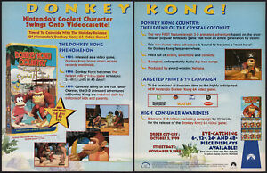 DONKEY-KONG-COUNTRY-Orig-1999-Trade-Print-AD-ADVERTISEMENT-Nintendo-Nelvana