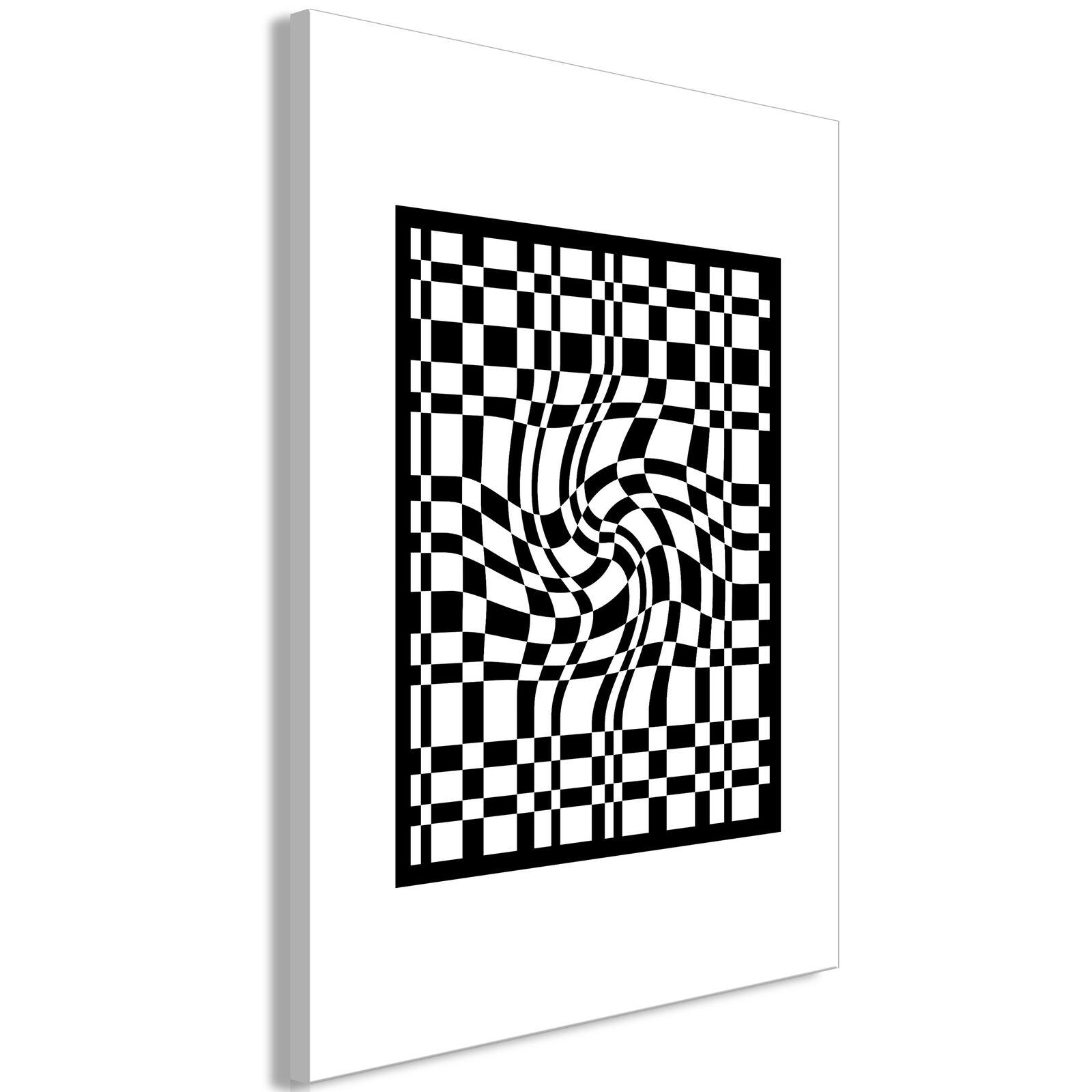 Leinwand Bilder Abstrakt 3D optik schwarz weiß Kunstdruck moderne Wandbilder XXL