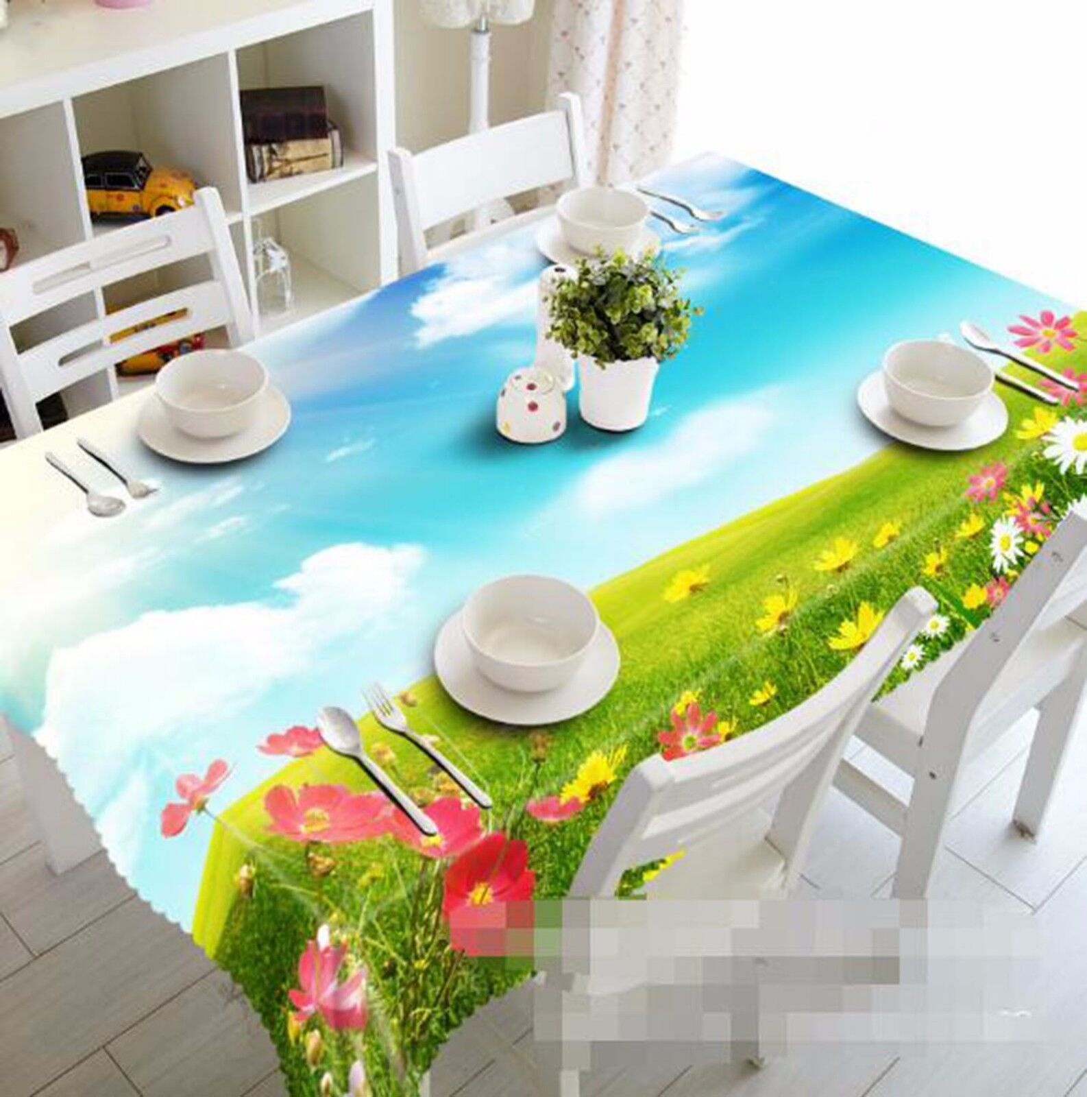 3D Meadow 61 Tablecloth Table Cover Cloth Birthday Party AJ WALLPAPER UK Lemon
