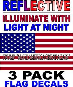 3-PACK-TRUMP-MAKE-AMERICA-GREAT-AGAIN-REFLECTIVE-American-Flag-USA-Decal