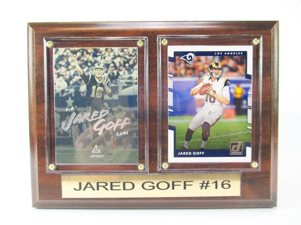 Jared Goff N Los Angeles Rams Photo Murale Bois 20 cm, Plaque NFL Football
