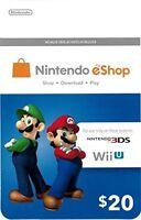 Nintendo Eshop 20 Gift Card