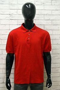 Polo-Uomo-VALENTINO-SPORT-Taglia-56-Maglia-Maglietta-Shirt-Manica-Corta-Rosso