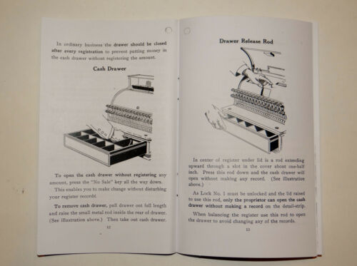 "/""HOW TO USE/"" YOUR ANTIQUE NATIONAL CASH REGISTER ALL METAL CLASS 700 NCR"